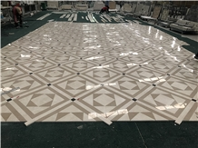 Beige Marble Stone Floor Medallion for Floor Tile