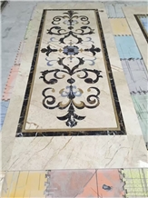 Beige Marble Stone Floor Medallion for Project