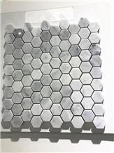 Carrara White Marble Hexagon Mosaic for Floor Tile