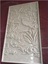 Natural Stone Relief Sculpture for Villa Decoration