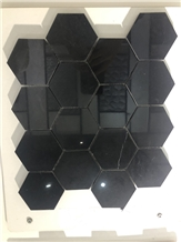 Nero Marquina Marble Hexagon Mosaic for Floor Tile