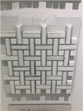 White Crystal Marble Stone Mosaic for Floor Tile