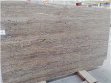Silver Veincut Travertine Polished Tiles Slabs