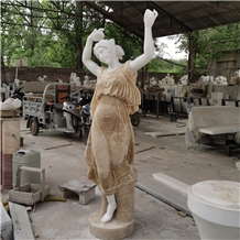 Beautiful Yellow Onyx Marble Statues