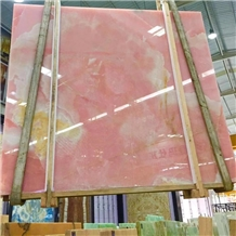 High Polished Pink Onyx Slabs for Wall and Floor