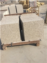 Polished Shandong Misty Yellow Granite Floor Tiles