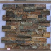 Z Shape China Rustic Slate Cultured Stone Veneer
