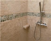 Classic Travertine Tumbled Brick Mosaic Tt-C-153