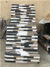 White Natural Quartzite Mixed Black Cultured Stone