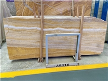 Silver Gold Travertine Honed and Polished Vein Cut