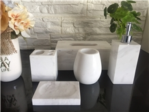 White Marble Bathroom Sets Toothbrush Holders