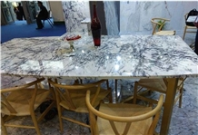 China Centalla White Marble Polised Table Top