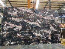 China Phantom Black Marble Polished Big Slabs