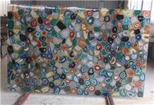 Multicolor Agate Semiprecious Stone Polished Slabs