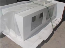 Nano Glass Panels Artificial White Countertops