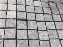 Zhangpu Black Basalt Flamed Cube Stone Pavers