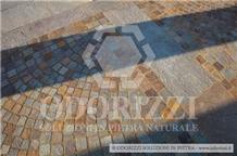 Porphyry Cubes, Mixed Color Cobble Stone, Pavers, Patio Cubes, Road Cobbles