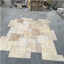 French Pattern Beige Travertine Pavers for Pool