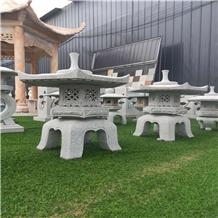 Garden Decoration Granite Stone Pagoda Lanterns