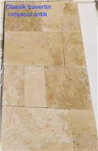 Classic Travertine Pattern Set Crosscut Antique