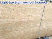 Light Travertine Slabs Weincut Honed