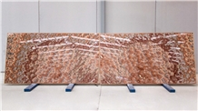 Red Onyx Slabs, 2cm, Bookmatched