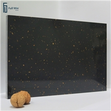 Black Color with Gold Artificial Granite
