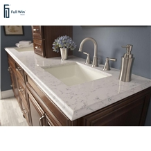 Non-Slip Quartz Bathroom Countertop