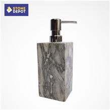 Grey Marble Bathroom Soap Dispenser