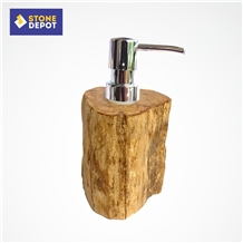 Petrified Wood Soap Dispenser Bathroom Accessories
