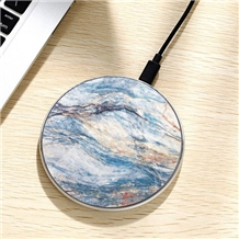 New Design Natural Marble Multicolor Charger
