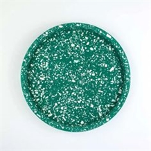 Terrazzo Round Tray Polished for Kitchen Sets