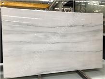 Atlantis White Marble Tiles&Slabs with Grey Veins