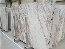 Thassos Medusa Marble Slabs Tiles for Hotel Lobby