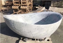 Oval Classic Marble Stone Freestanding Bathtub