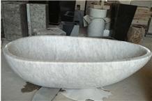 White Marble Hotel Freestanding Bathtub