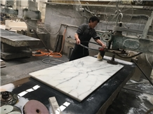 Rectangular Tabletop, Bianco Carra