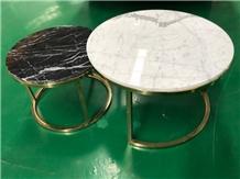 Side Table Top/End Tabletop, Staturio&Black Marqui