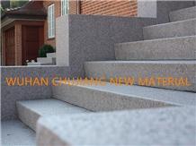 China New G602 Sesame White Granite for Stair