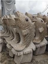 Fish Animal Granite Stone Sculpture Garden Statues