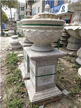 Garden Granite Stone Relief Flower Planters Pots