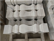 Guangxi White Marble Stair Baluster Stone Handrail