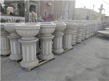 Stone Base Stand Flower Pots G682 Yellow Vases