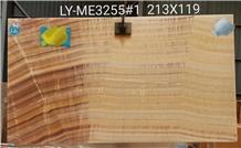 Peach Onyx Jade Yellow Back-Lit