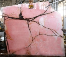 Iran Pink Onyx Tiles and Slabs