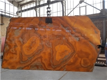 Iran Yellow Onyx Orange Onyx Slabs & Tiles
