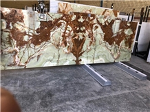 Multi Brown Onyx Slabs, Light Green Onyx Slabs