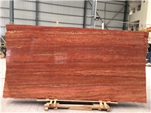 Arizona Red Travertine Marble for Wall Application