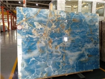 Blue Onyx Stone for Wash Basin/Wall Tile