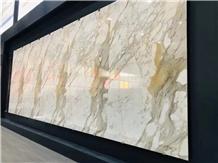 Calacatta Gold Marble Slab for Flooring Tiles